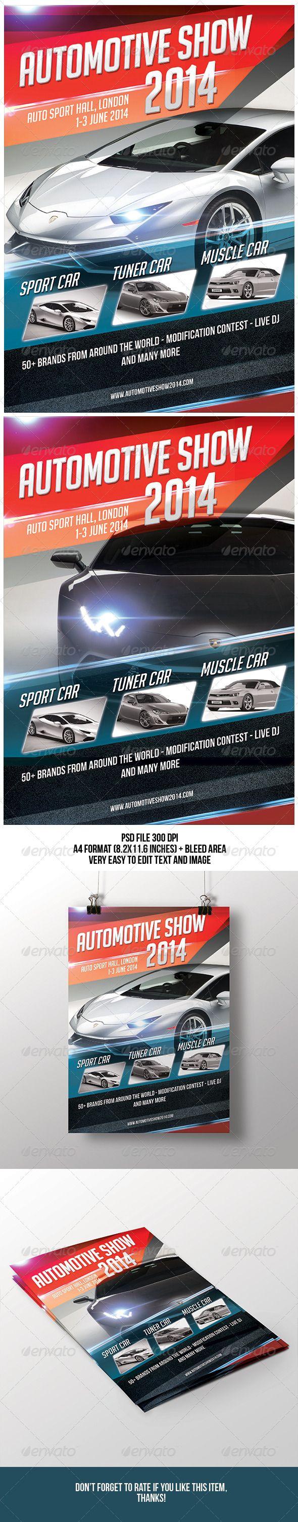 Automotive Show Flyer | Publicidad en autos, Lugares para visitar ...