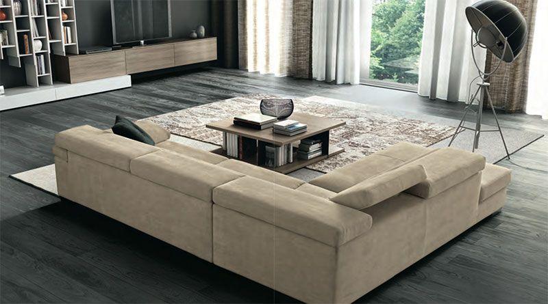 Divano modello cheto by febal casa l estesa profondit della seduta unita alla doppia densit - Divano doppia seduta ...