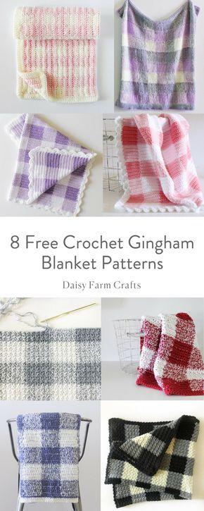 8 Free Crochet Gingham Patterns | Crochet | Pinterest | Crochet ...
