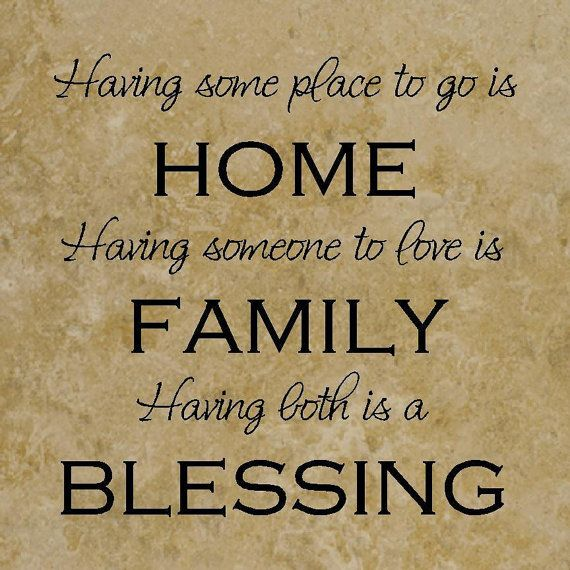 12x12 Decorative Ceramic Tile with the quote Home, Family, Blessings ...