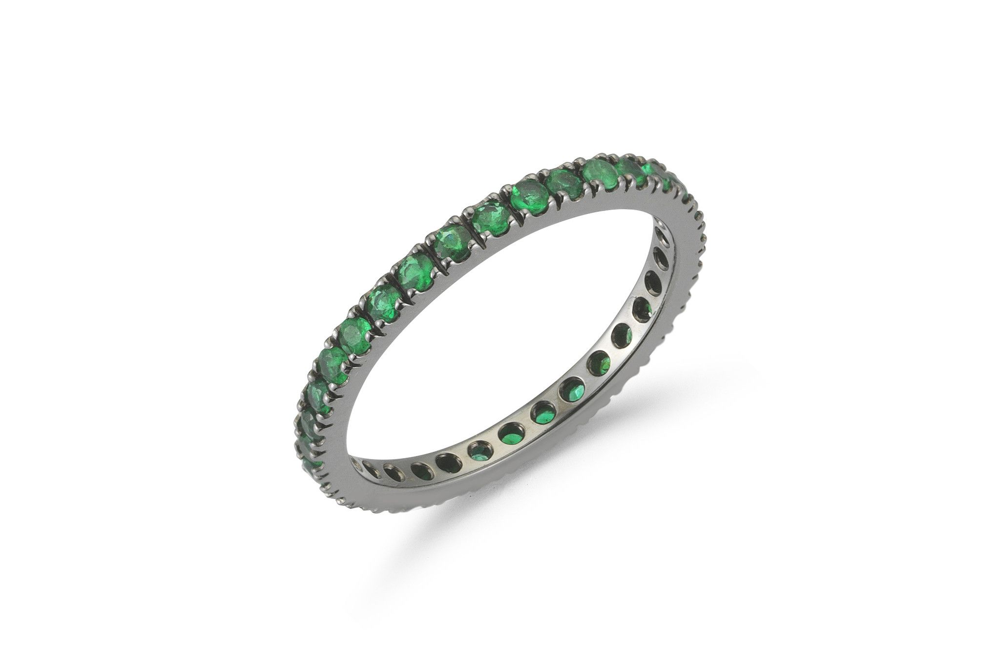 "Now available on our store: A & Furst ""France... Check it out here! http://afjewelers.com/products/a-furst-france-eternity-band-ring-with-french-setting-emeralds-all-around-18k-blackened-gold?utm_campaign=social_autopilot&utm_source=pin&utm_medium=pin"