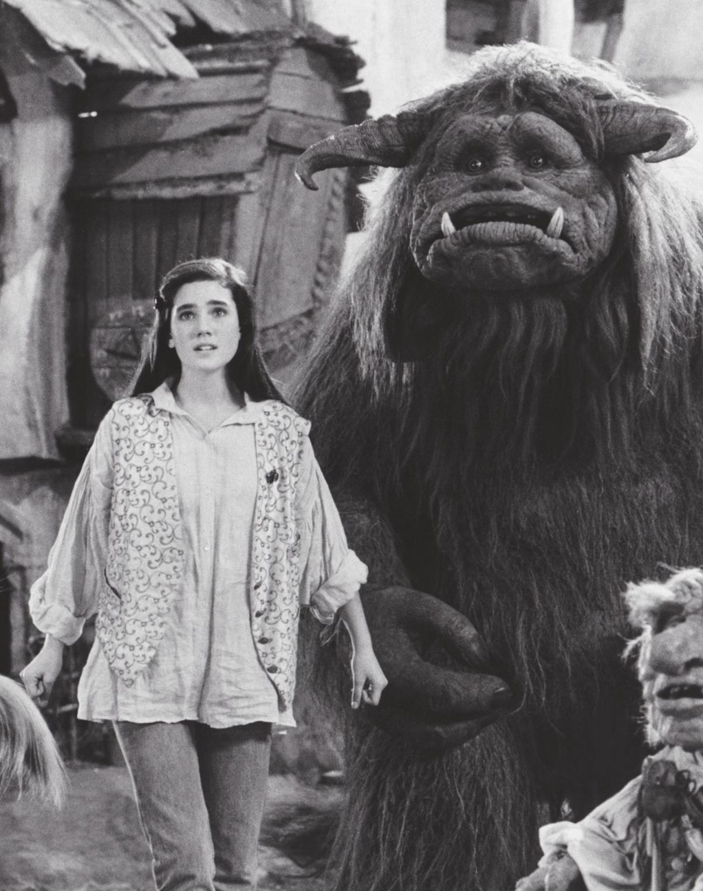 1986 - Jennifer Connelly as Sarah and Ludo in Labyrinth ... Labyrinth 1986 Ludo
