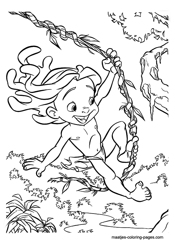 free Tarzan Coloring Pages for boys | Kids stuff | Pinterest | Tarzan