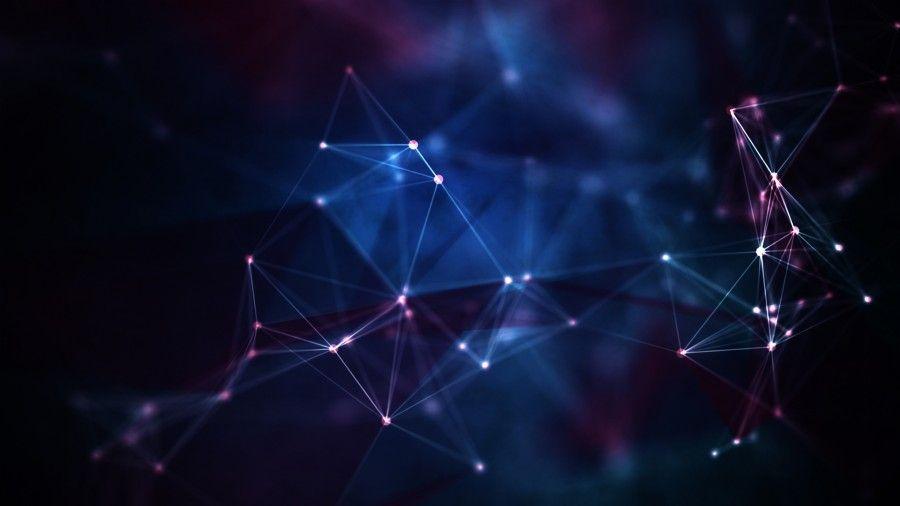 3d Lights Connecting Dots Free Wallpaper Hd Abstract Digital Art