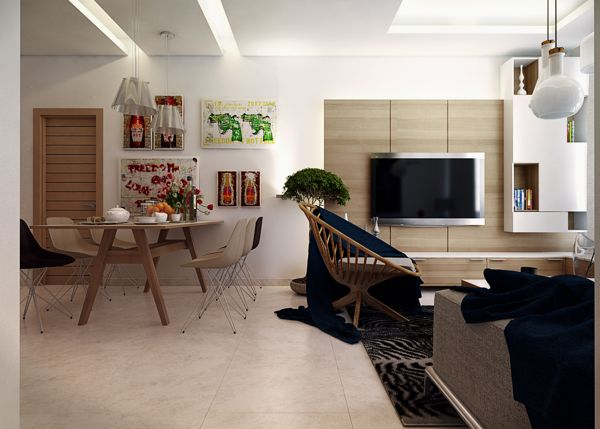Exceptional Small Modern Apartment Decor