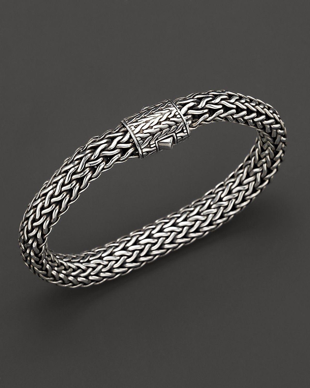 John Hardy Men S Sterling Silver Large Chain Bracelet Bloomingdale