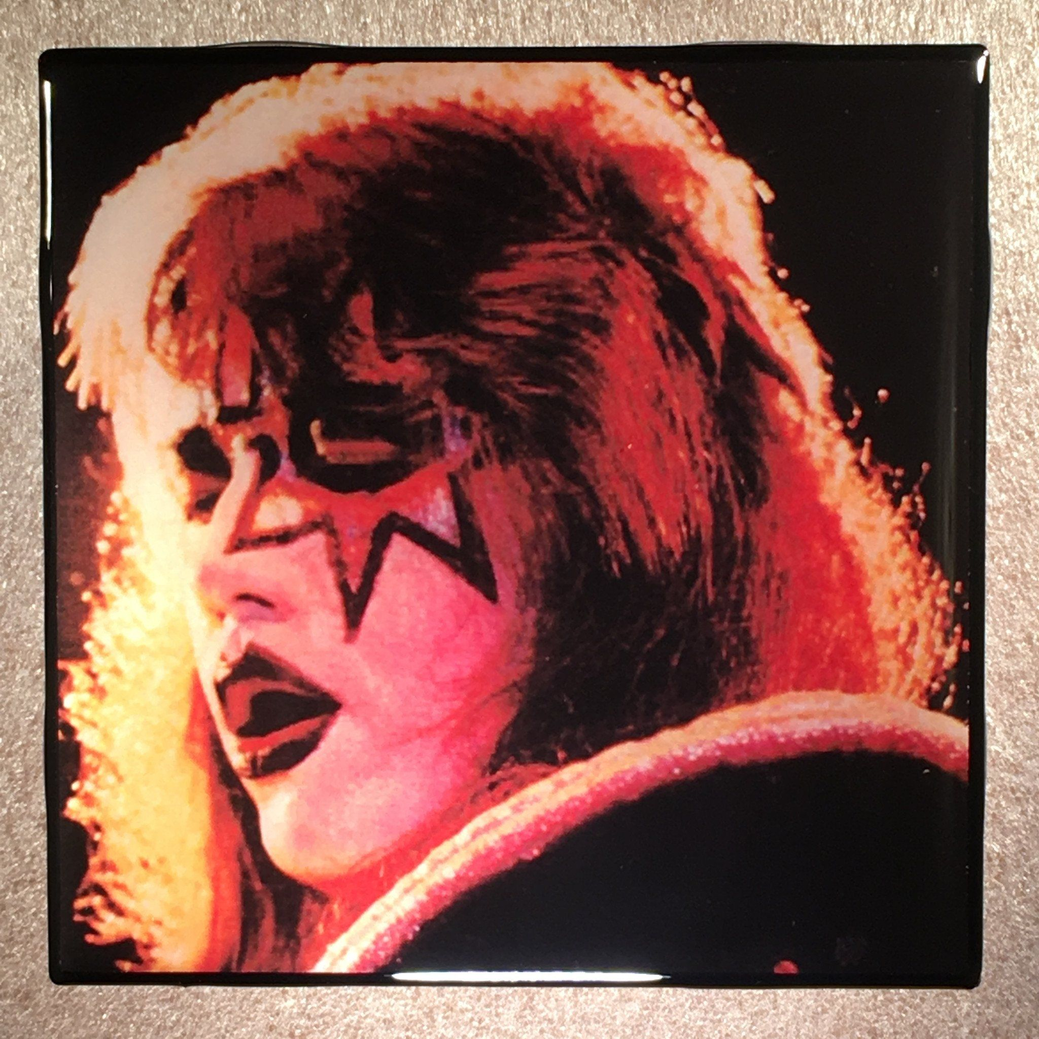 Ace Frehley Kiss Alive Ii Back Coaster Ceramic Tile Ceramics