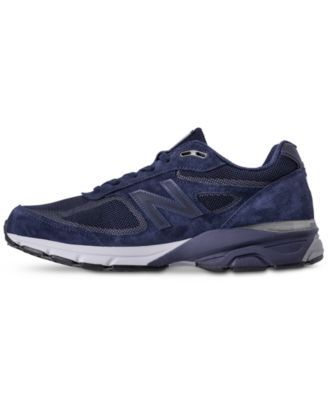 a52394e1c0b New Balance Men s 990 V4 Reflective Running Sneakers from Finish Line -  NAVY WHITE 10.5