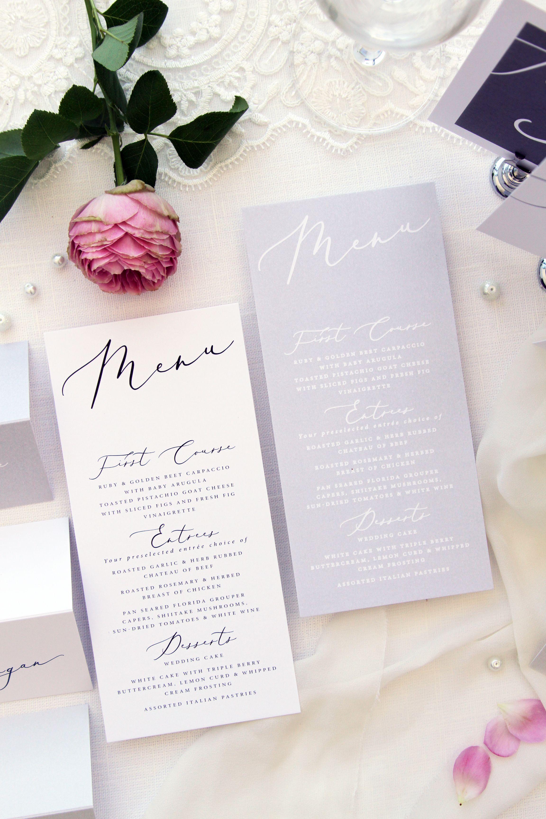 Pin by Paradise for You on Wedding Menus   Pinterest   Wedding menu ...