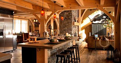 Timber Frame Homes Interior Pictures   Google Search Part 44