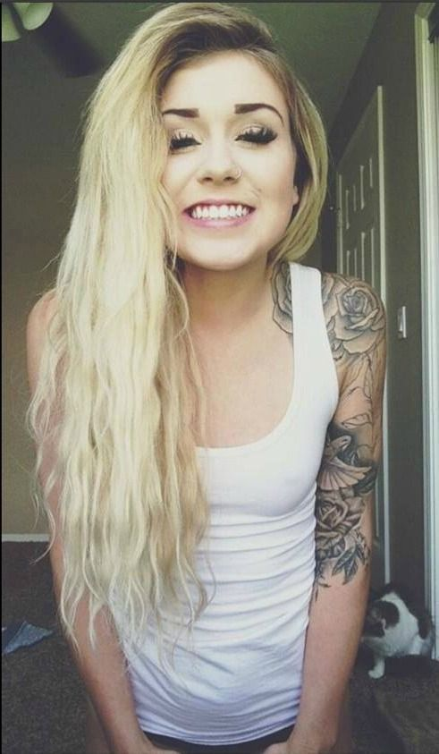 cute girls nose ring smile tattoo tattoos tumblr tumblr girl