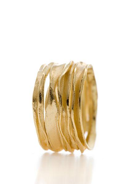 Welp Brede gouden ring met diamanten (met afbeeldingen) | Gouden ring KG-02