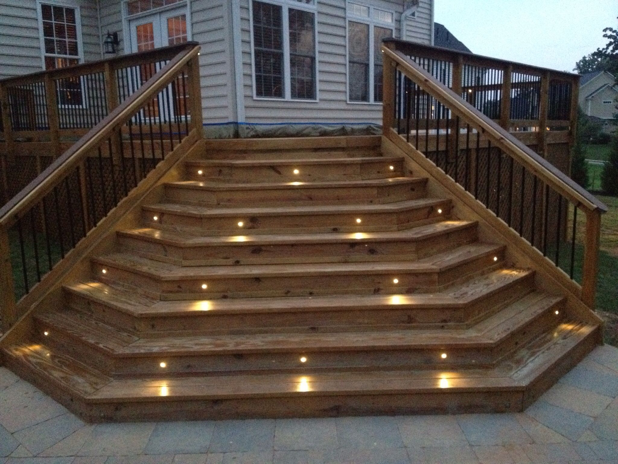 Best Piano Stairs With 1 Led Riser Lights Deck Stairs 400 x 300
