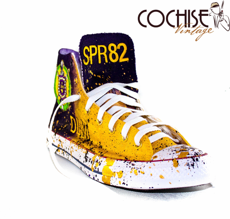 72786f197d4f8 Omega Psi Phi Custom AirBrush Converse Chuck Taylors All Stars Greek ...