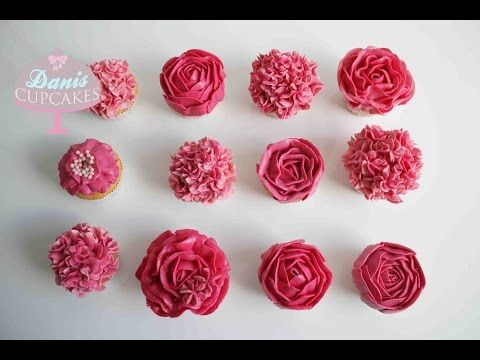buttercreme rosen hortensien cupcakes muttertag special danis cupcakes leckeres pinterest. Black Bedroom Furniture Sets. Home Design Ideas