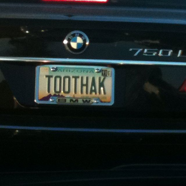 Arizona Personalized Plates >> Maybe An Arizona Dentists License Plate Vanity License