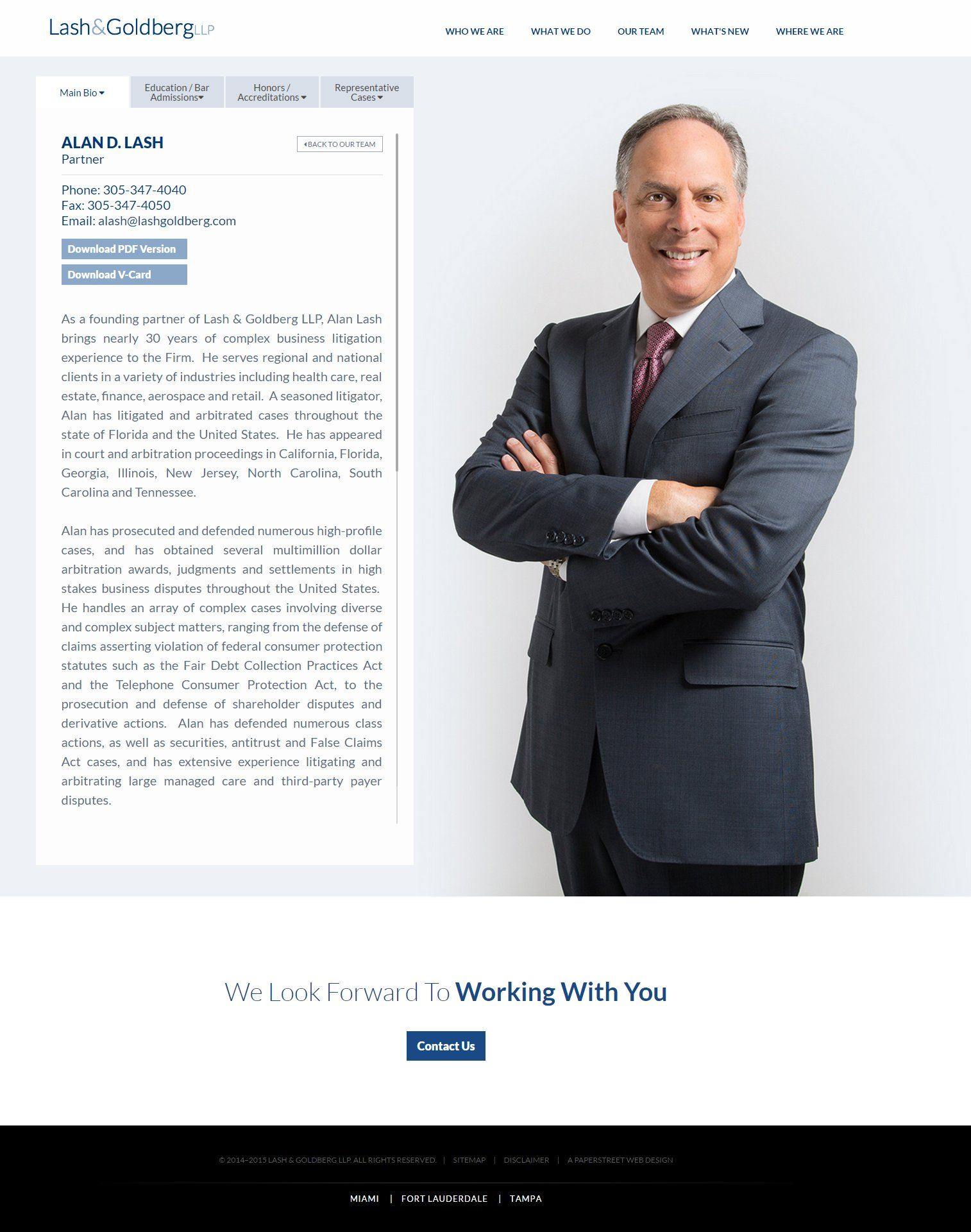 Attorney Biography Legal Web Design Law Firm Web Design
