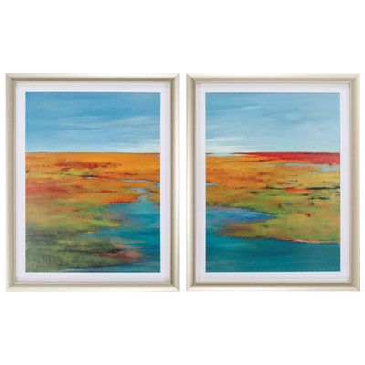 Propac Images Going the Distance 2 Piece Framed Painting Print Set