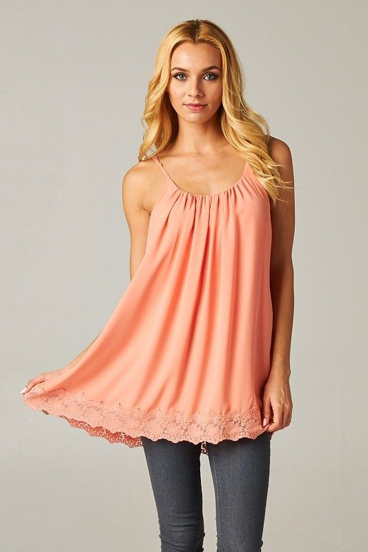 Delphine Camisole Top in Soft Nectar on Emma Stine Limited