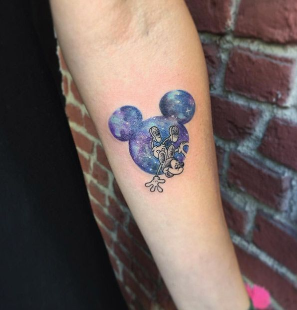 Mickey Mouse space tat by Eva