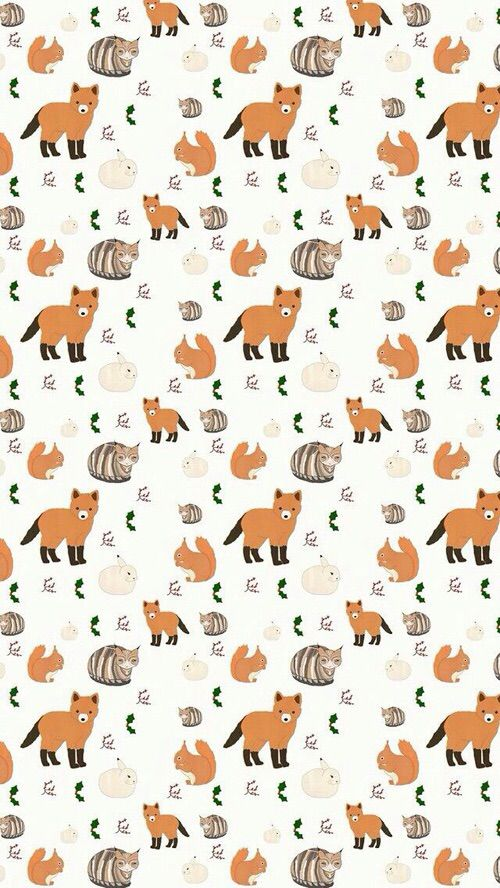 Image via We Heart It #fox #pattern