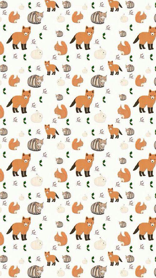 Image Via We Heart It Fox Pattern Fall Wallpaper Iphone Wallpaper Pattern Wallpaper Iphone Cute