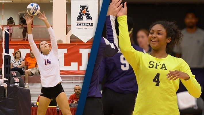 Armer And Cain Named Volleyball Players Of The Week With Images Volleyball News Volleyball Players Volleyball