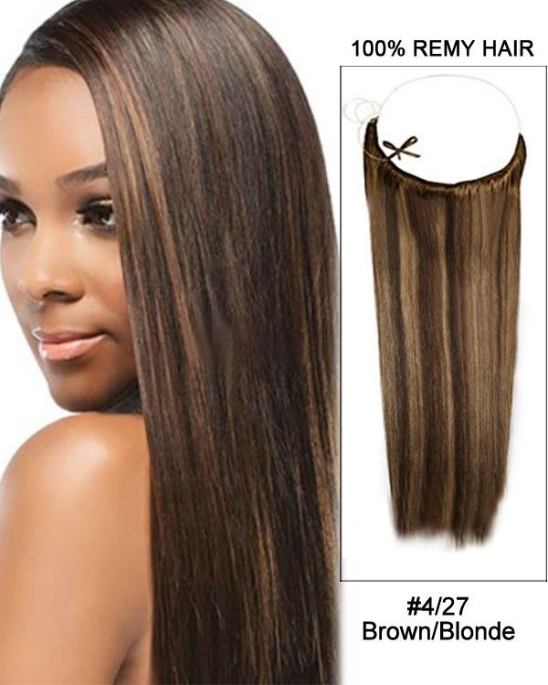 14 32 Inch Straight Secret Human Hair Extensions 427 Brown