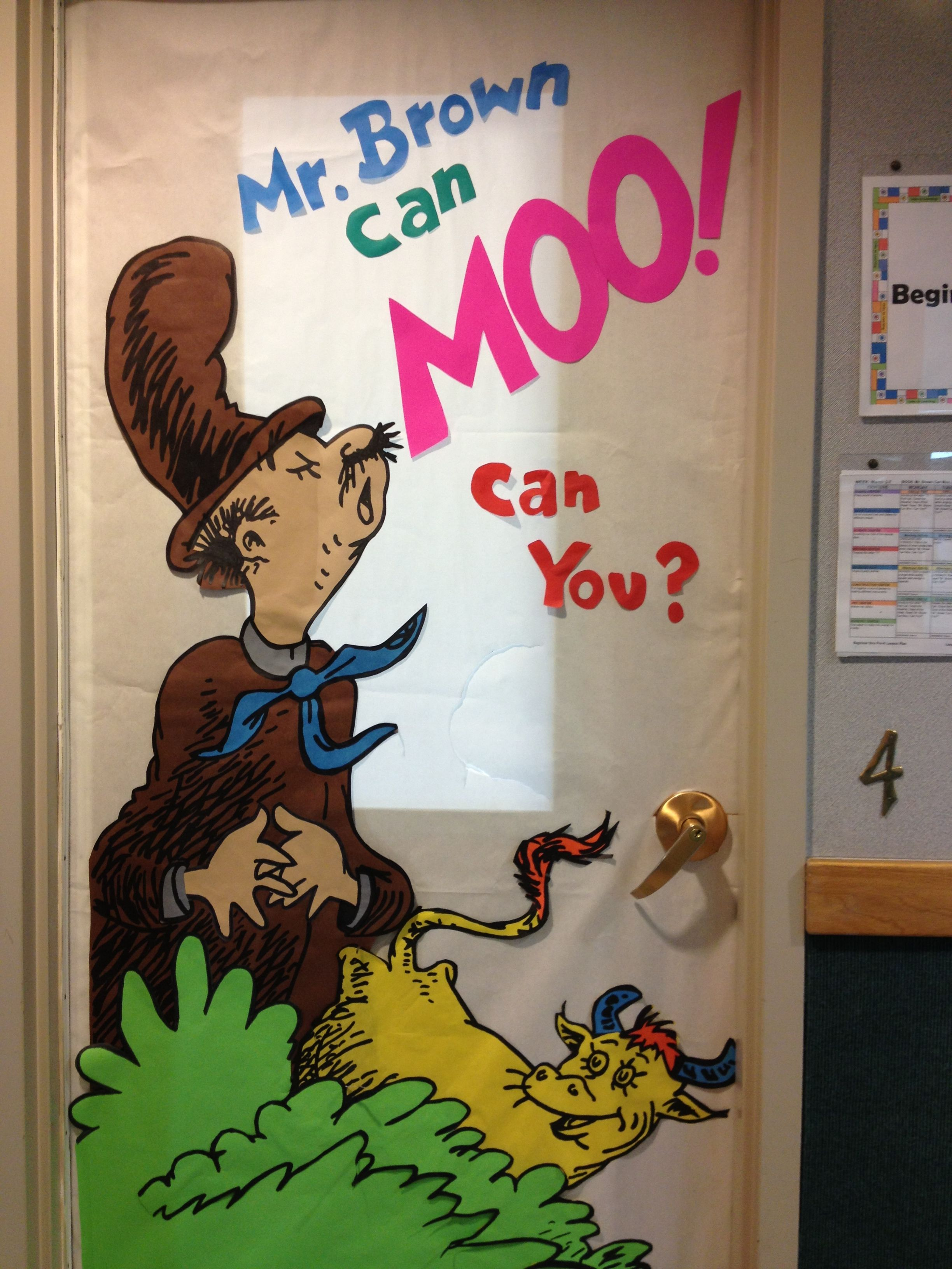 Dr Seuss Mr Brown Can Moo Can You Door Decoration