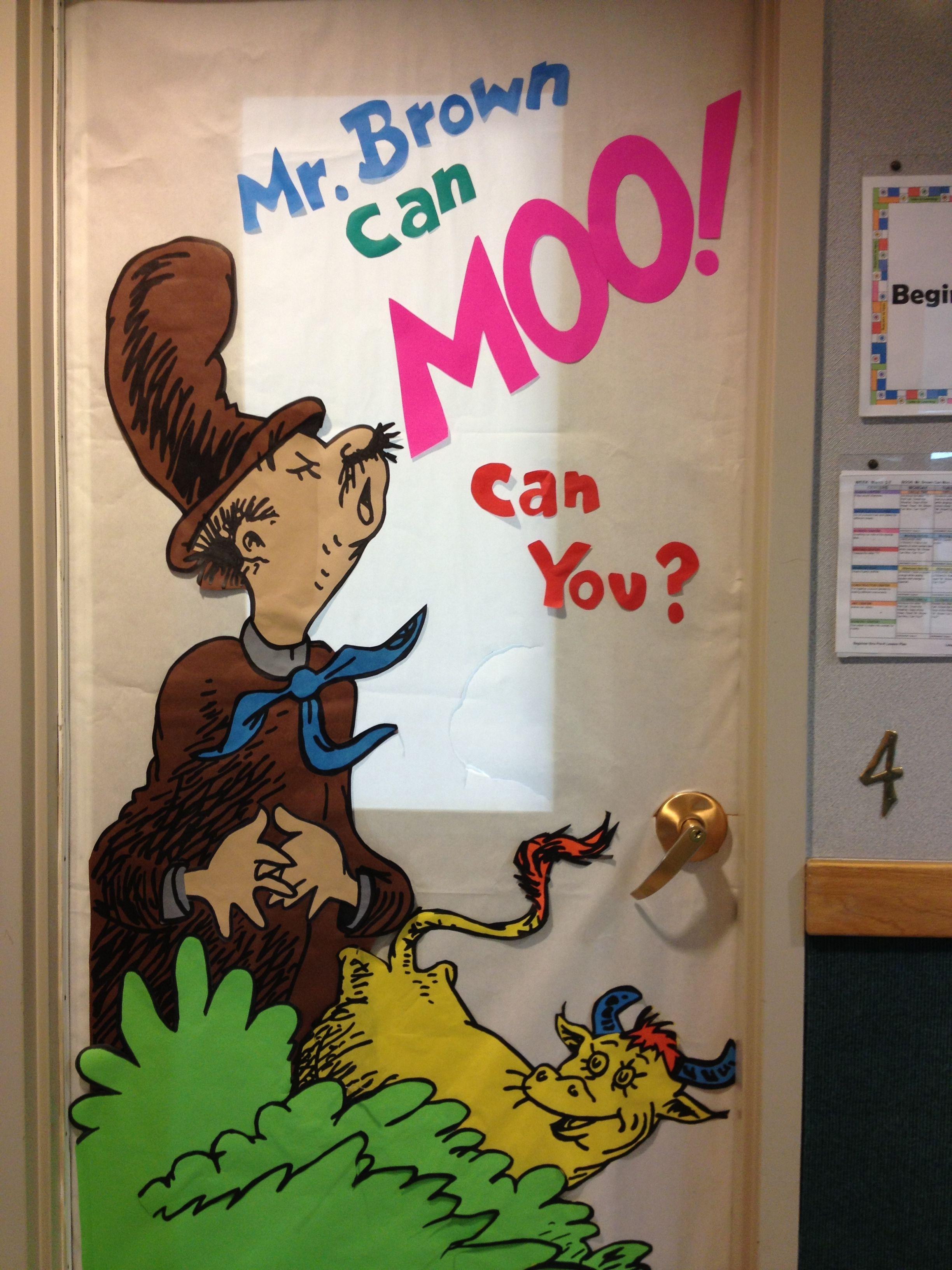 Dr Seuss Mr Brown Can Moo Can You Door Decoration Door