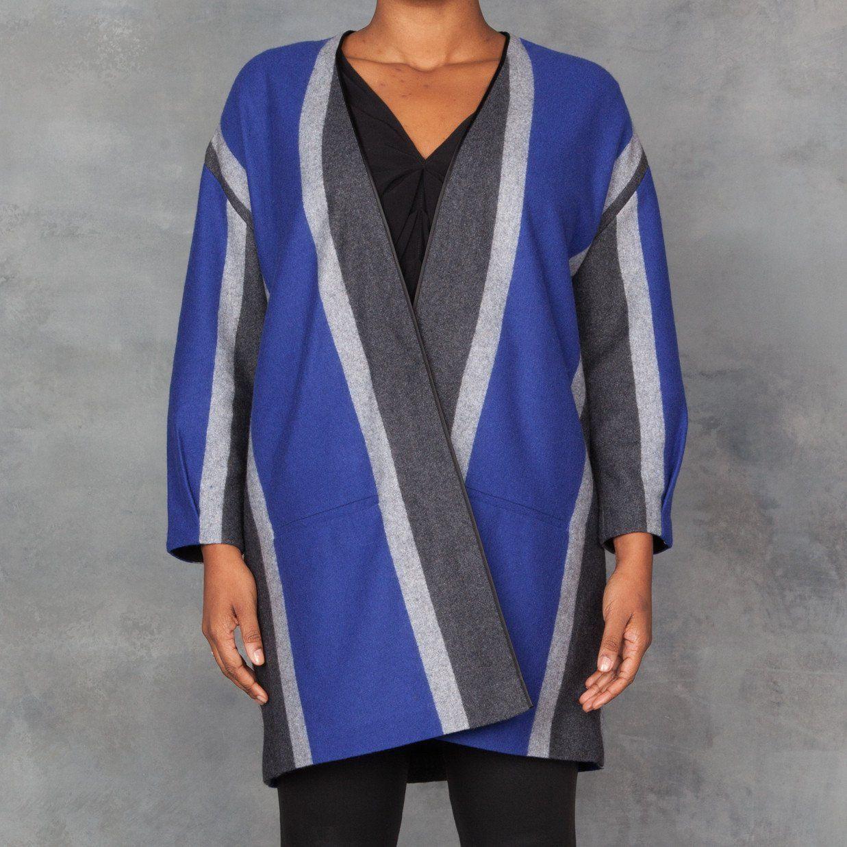 Wool cashmere flannel jacket  Giada Forte Striped Flannel Jacket  Products  Pinterest  Flannel