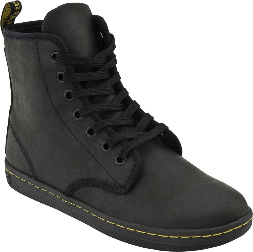fcabba7c665 Dr. Martens Women's Boots Shoreditch 7 Eye Black Greasy Lamper ...