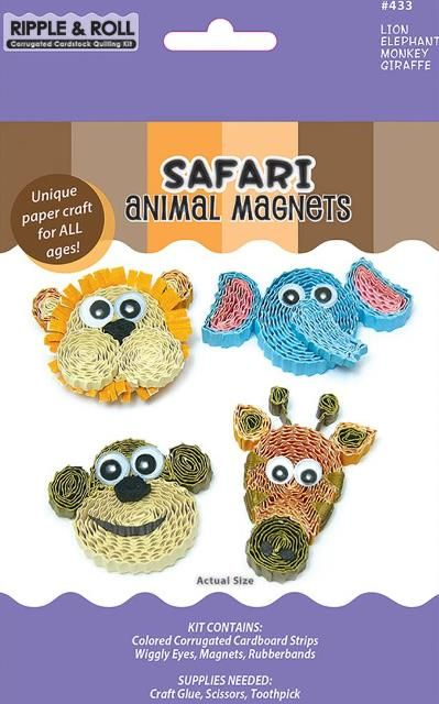 Quilled Creations Safari Animal Magnets Quilling Kit Custom Quilling Supplies
