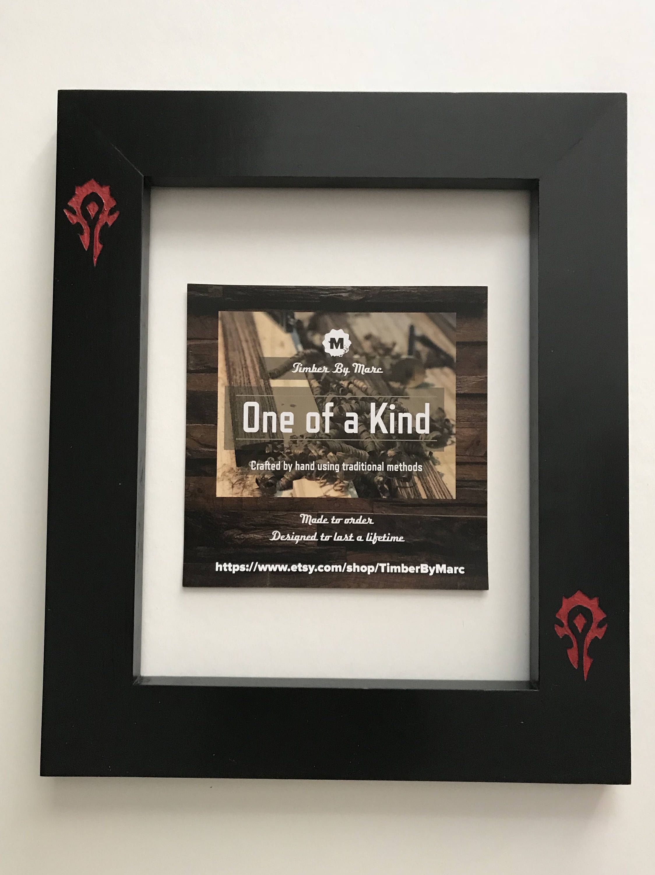 Excited To Share The Latest Addition To My Etsy Shop Horde Engraved Black Pine Frame 8x10 Housewares Homedecor Worldof Picture Frames Frame Hand Painted