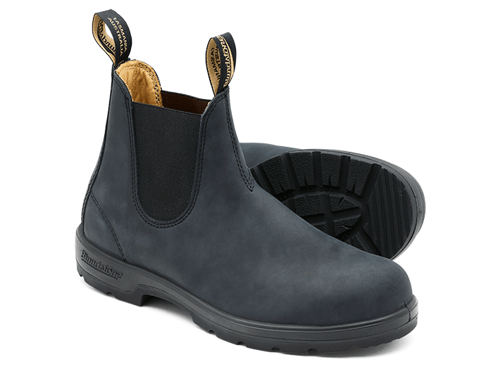 Rustic Black Leather Chelsea Boots Men S Style 587 Blundstone Usa Black Leather Chelsea Boots Leather Chelsea Boots Chelsea Boots