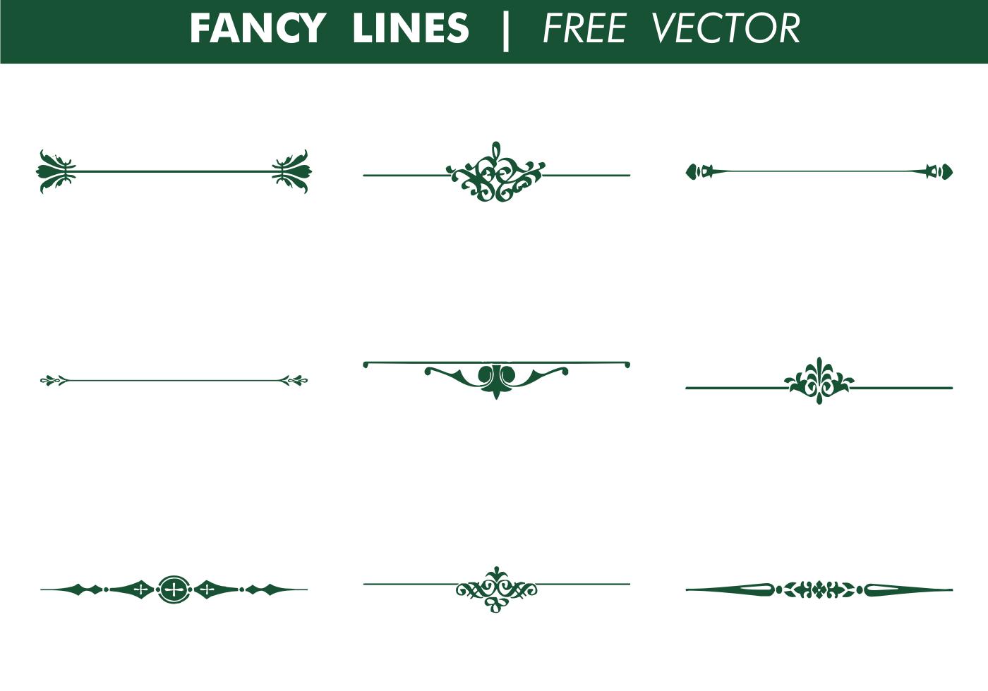 Decorative Fancy Lines Vector Decorative Lines Doodle Frame Doodle Frames