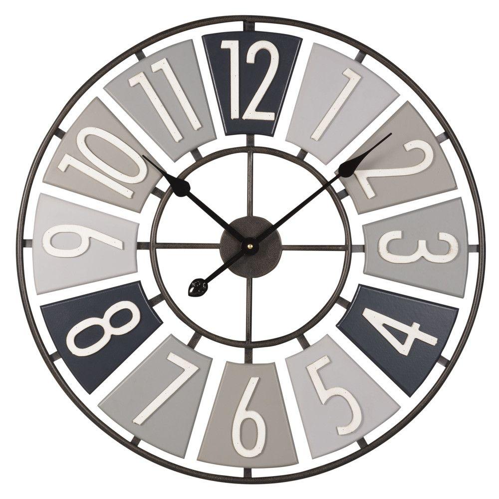 horloge en métal gris | déco | pinterest | house