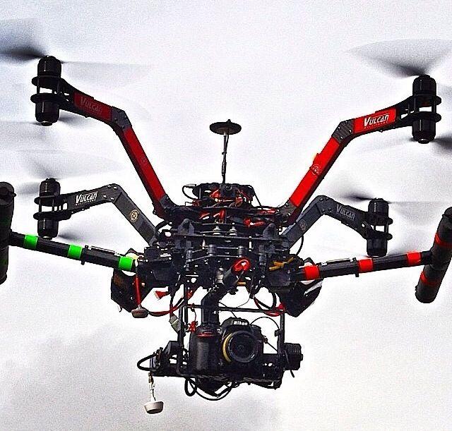 Medium Size AUV Vulcan X8 Aerial Drones Muticopter Video