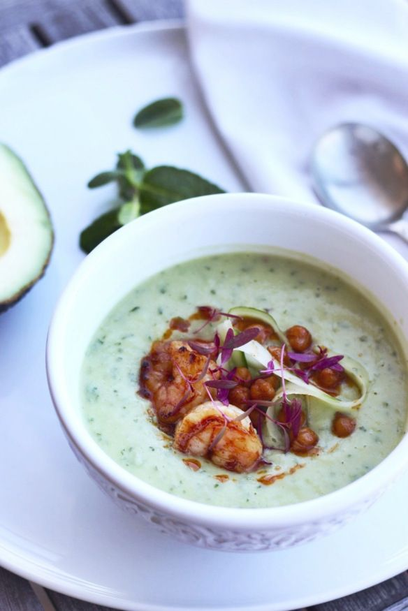Avocado, Cucumber and Mint Soup - Finger, Fork & Knife