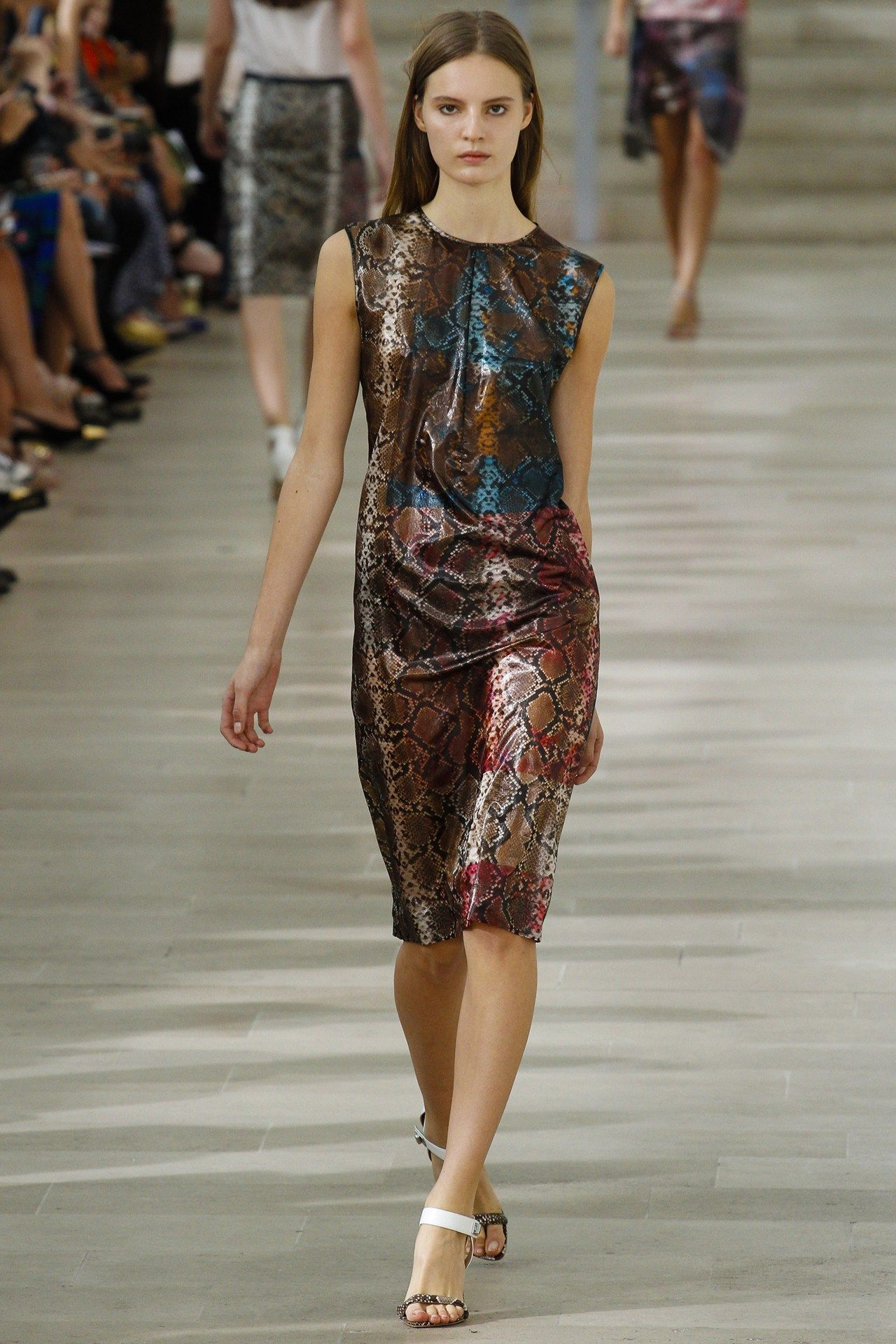 Positively swooning over this snake print number from Preen S/S 2013! #LFW