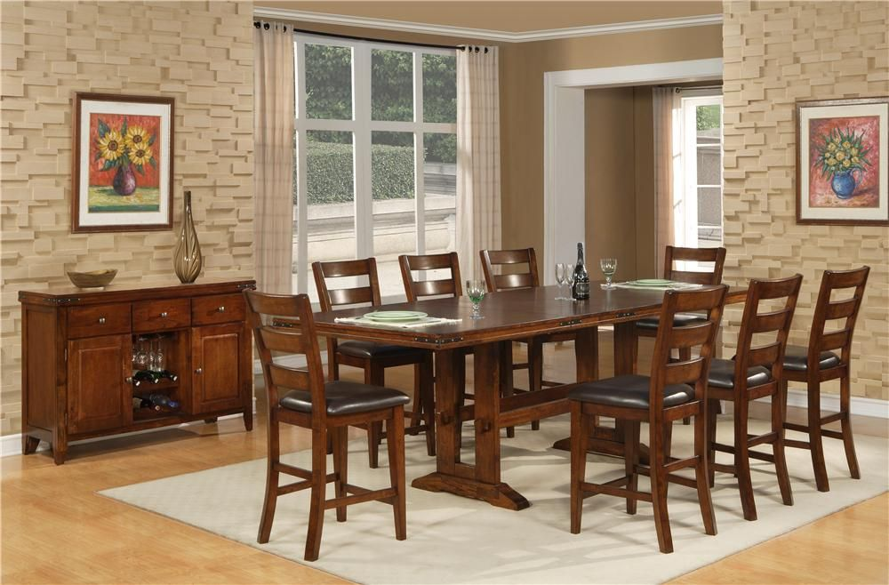 Layton Counter Table 8 Stools Hom Furniture Luxe