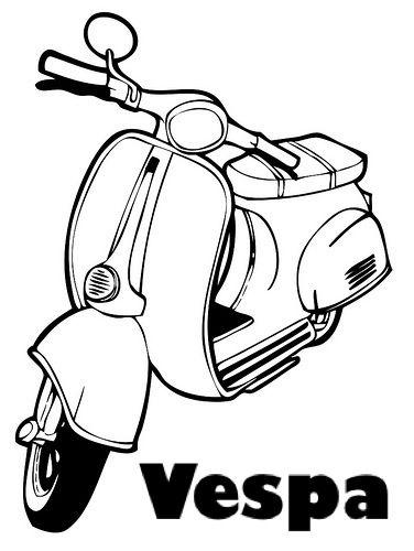 Lukisan Motor Vespa Cikimm Com