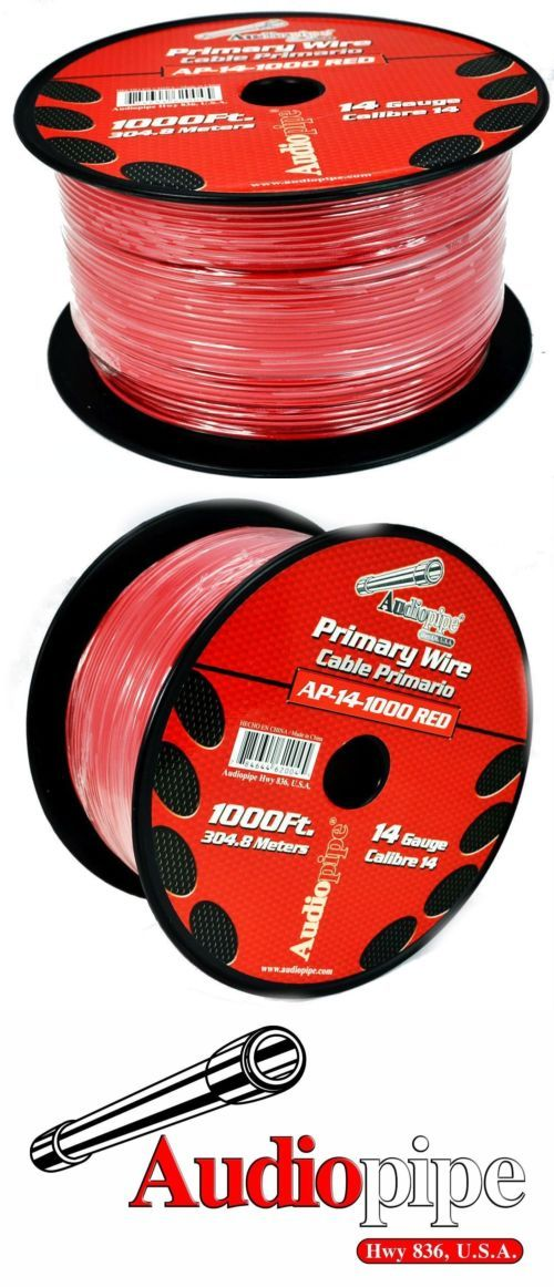 Power and Speaker Wire: 1000Ft 14 Gauge Red Primary Remote Wire ...