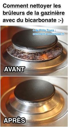 Comment Nettoyer les Brûleurs de la Gazinière Avec du Bicarbonate (Facile Et Rapide).