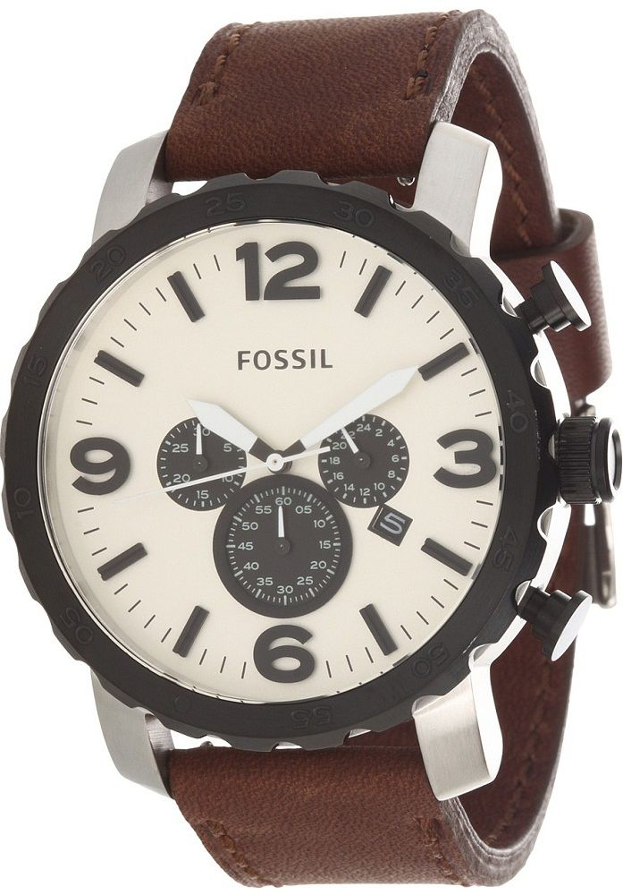 Fossil JR1390 Nate Leather Watch - Brown    89.00   Fossil Watch Men ... 6a908f52bf