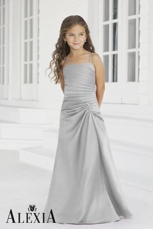 silver junior bridesmaid dresses  451b6a0702ea