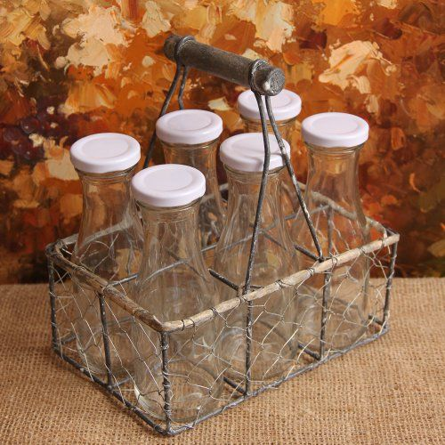 Shabby Cottage Chic Wire Basket with Bottles Vases Jars Peacock Park Design,http://www.amazon.com/dp/B008CXLJX4/ref=cm_sw_r_pi_dp_0zb6sb1T7NDTSTP9
