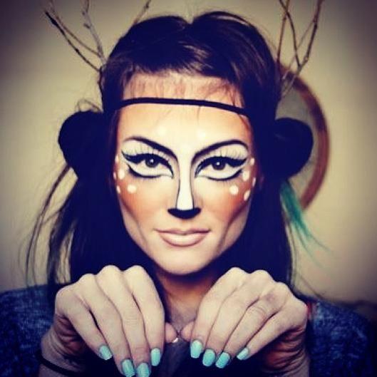 deer halloween makeup - photo #3
