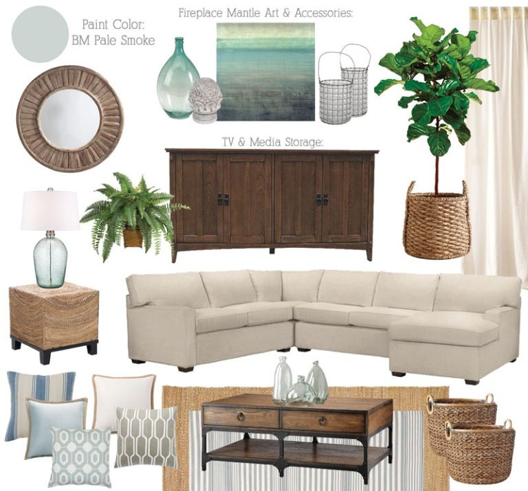 Beigeaqua Living Room Mood Boardmaybe Too Coastal  Home Beauteous Living Room Home Decor Ideas Design Inspiration
