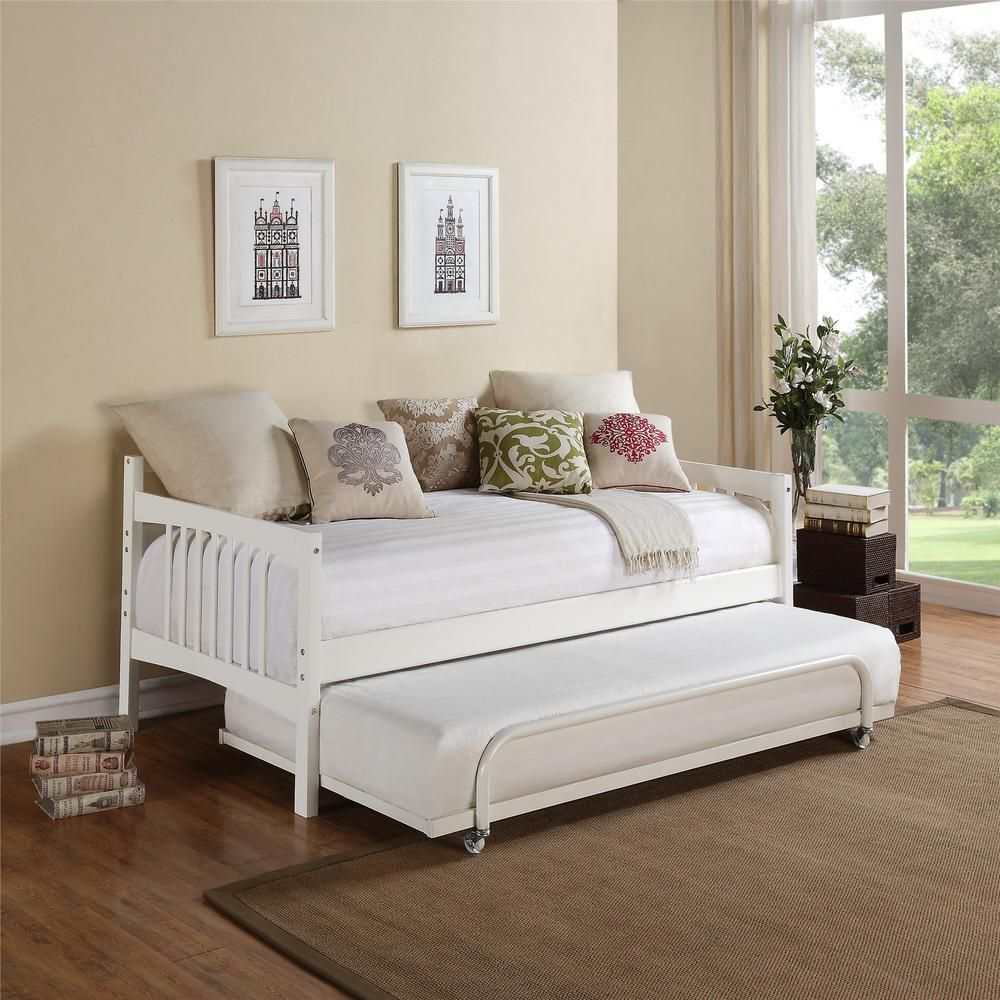 Dorel Living Kayden White Twin Daybed Fa6394w The Home Depot